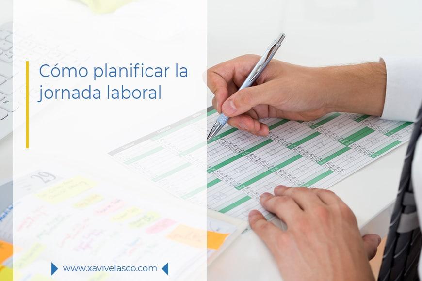 Portada - cómo planificar la jornada laboral